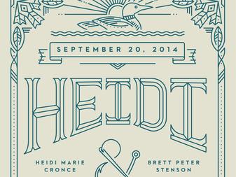 Heidi & Brett - Wedding Invitations