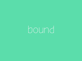 Bound font