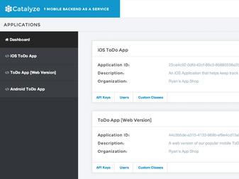 Catalyze Dashboard Redesign