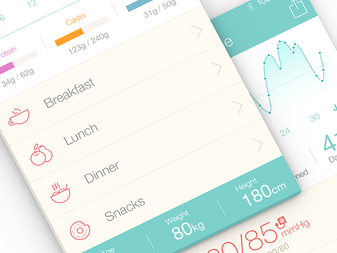 Medical App UI Design - Pictograms