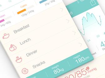 Medical App UI Design - Pictograms