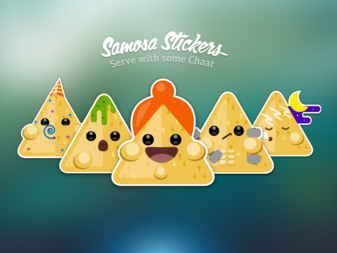 Samosa Stickers