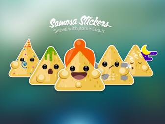 Samosa Stickers