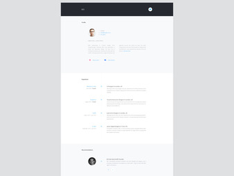 Personal Site layout