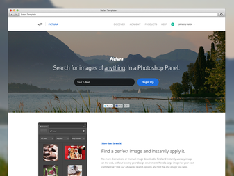 Pictura - Landing Page