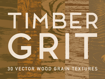TimberGrit — 30 Vector Wood Grain Textures